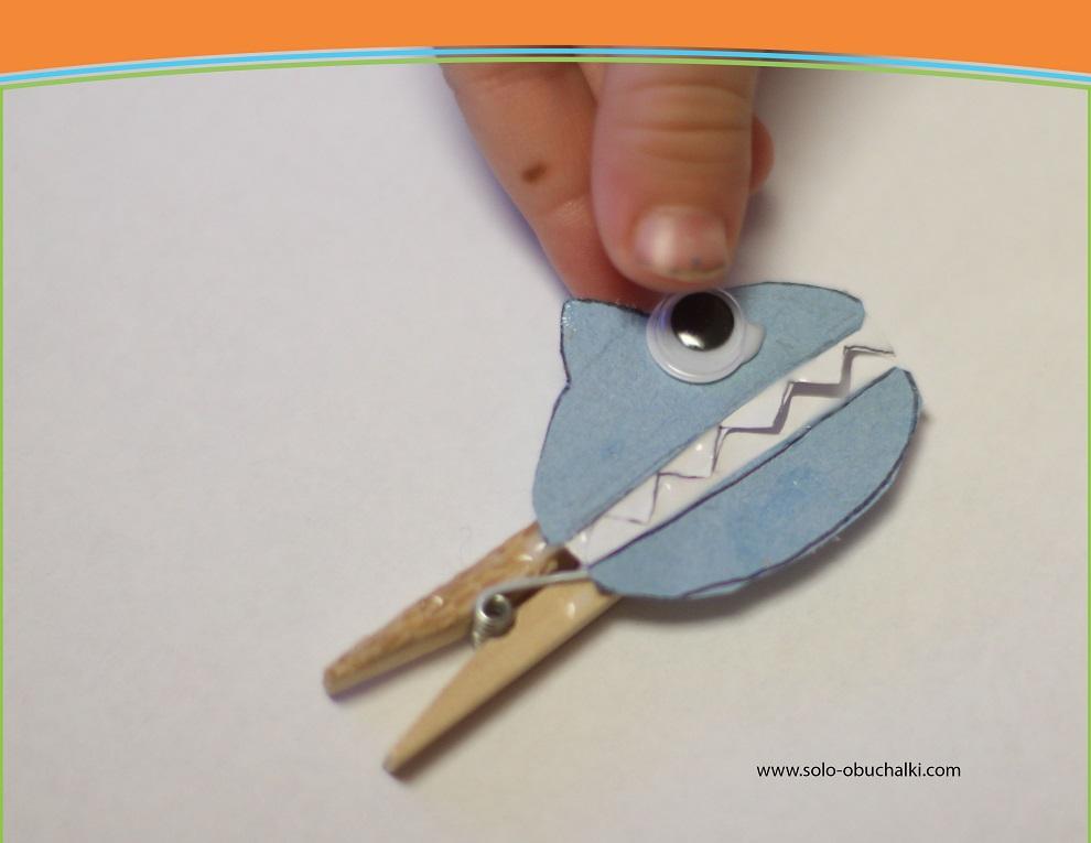 Поделки акула из бумаги 80